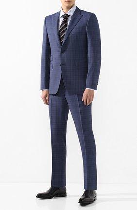 Мужская хлопковая сорочка CANALI голубого цвета, арт. XX05/GF01856 | Фото 2
