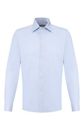 Мужская хлопковая сорочка CANALI голубого цвета, арт. X05/GD00608/S | Фото 1