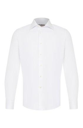 Мужская хлопковая сорочка CANALI белого цвета, арт. X05/GD00608/S | Фото 1