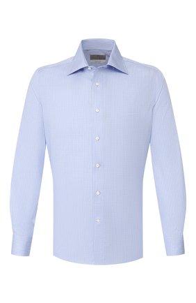 Мужская хлопковая сорочка CANALI голубого цвета, арт. NX05/GR01832/S | Фото 1