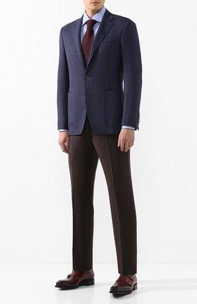 Мужская хлопковая сорочка CANALI голубого цвета, арт. NX05/GR01832/S | Фото 2