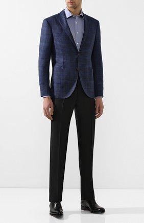Мужская хлопковая сорочка CANALI синего цвета, арт. N705/GR01839/S | Фото 2