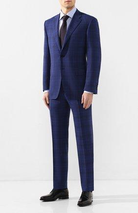Мужская хлопковая сорочка CANALI голубого цвета, арт. 7705/GF00985 | Фото 2