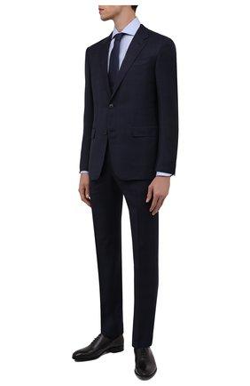 Мужские кожаные оксфорды BRIONI черного цвета, арт. QEF70L/P6757 | Фото 2