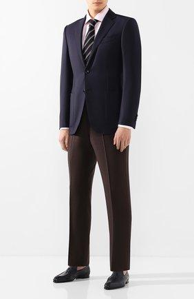 Мужские кожаные лоферы BRIONI темно-синего цвета, арт. QFDC0L/P7731 | Фото 2