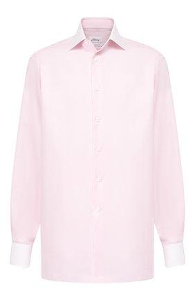 Мужская хлопковая сорочка BRIONI розового цвета, арт. RCL41F/P7001 | Фото 1