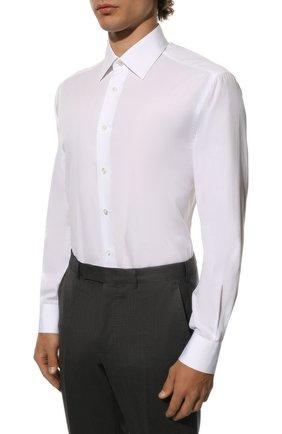 Мужская хлопковая сорочка BRIONI белого цвета, арт. RCL8ID/PZ016 | Фото 3
