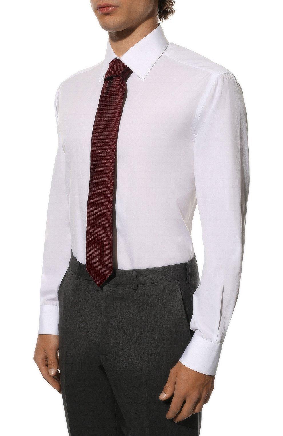 Мужская хлопковая сорочка BRIONI белого цвета, арт. RCL8ID/PZ016 | Фото 4