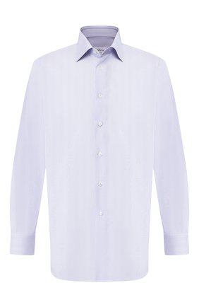 Мужская хлопковая сорочка BRIONI синего цвета, арт. RCLU1T/P90B7 | Фото 1