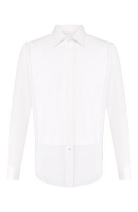 Мужская хлопковая сорочка BRIONI белого цвета, арт. RCS014/0Z022   Фото 1