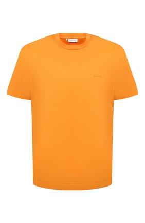 Мужская хлопковая футболка BRIONI оранжевого цвета, арт. UJCA0L/PZ600 | Фото 1