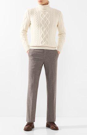 Мужской кожаные дерби BRUNELLO CUCINELLI коричневого цвета, арт. MZUCCRK938 | Фото 2