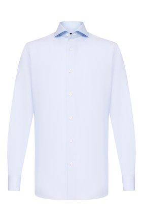 Мужская хлопковая сорочка LUIGI BORRELLI голубого цвета, арт. EV08/FELICE DC/TS10205 | Фото 1