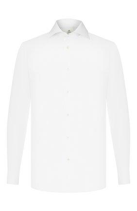 Мужская хлопковая сорочка LUIGI BORRELLI белого цвета, арт. EV08/LUCIAN0 DC/TS10514 | Фото 1