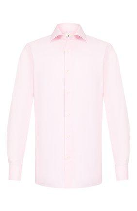 Мужская хлопковая сорочка LUIGI BORRELLI розового цвета, арт. EV08/LUCIAN0 DC/TS10514 | Фото 1