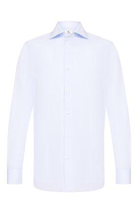 Мужская хлопковая сорочка LUIGI BORRELLI голубого цвета, арт. EV08/ARCHILLE/TS10605 | Фото 1