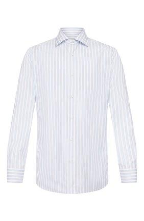 Мужская хлопковая сорочка LUIGI BORRELLI голубого цвета, арт. EV08/LUCIAN0/TS9395 | Фото 1