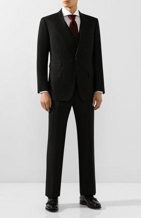 Мужской шерстяной костюм-тройка TOM FORD черного цвета, арт. 622R97/31AL41 | Фото 1