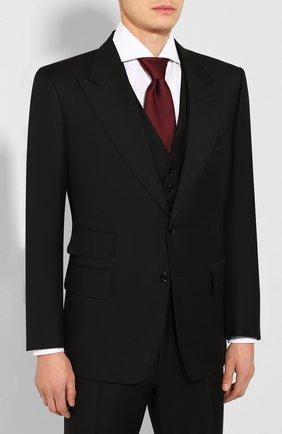 Мужской шерстяной костюм-тройка TOM FORD черного цвета, арт. 622R97/31AL41 | Фото 2