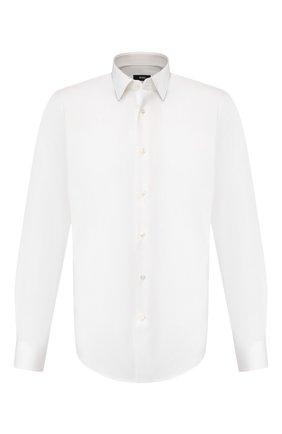 Мужская хлопковая сорочка BOSS белого цвета, арт. 50413751 | Фото 1