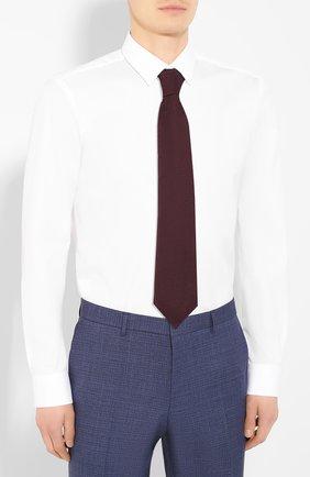 Мужская хлопковая сорочка BOSS белого цвета, арт. 50413751 | Фото 4