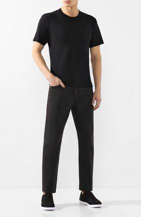 Мужские текстильные кеды SWIMS черного цвета, арт. 21285 | Фото 2 (Материал внешний: Текстиль; Подошва: Плоская)