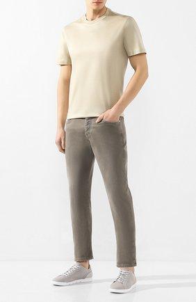 Мужские текстильные кеды SWIMS серого цвета, арт. 21285 | Фото 2