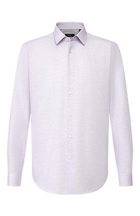 Мужская хлопковая сорочка BOSS сиреневого цвета, арт. 50422139 | Фото 1