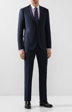 Мужская хлопковая сорочка BOSS сиреневого цвета, арт. 50422139 | Фото 2