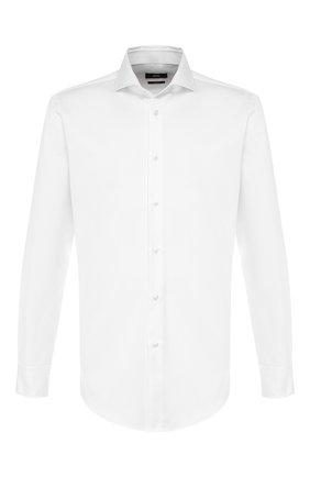 Мужская хлопковая сорочка BOSS белого цвета, арт. 50422020 | Фото 1