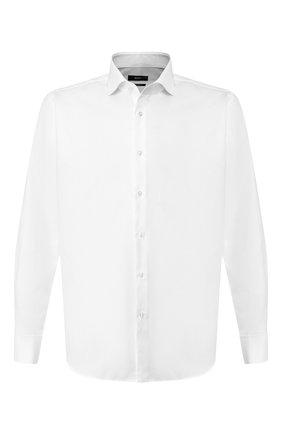 Мужская хлопковая сорочка BOSS белого цвета, арт. 50422212 | Фото 1