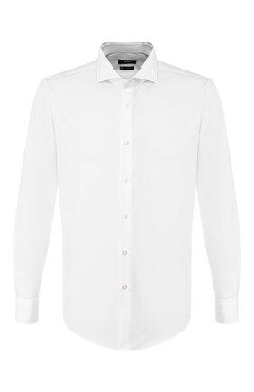Мужская хлопковая сорочка BOSS белого цвета, арт. 50422232 | Фото 1