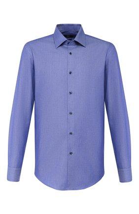Мужская хлопковая сорочка BOSS синего цвета, арт. 50422216   Фото 1