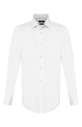 Мужская хлопковая сорочка BOSS белого цвета, арт. 50421976 | Фото 1