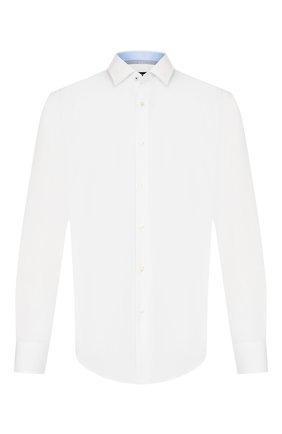 Мужская хлопковая сорочка BOSS белого цвета, арт. 50421521 | Фото 1