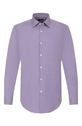 Мужская хлопковая сорочка BOSS фиолетового цвета, арт. 50421638 | Фото 1