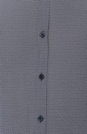 Мужская хлопковая сорочка BOSS темно-синего цвета, арт. 50421111 | Фото 5