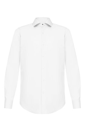 Мужская хлопковая сорочка BOSS белого цвета, арт. 50421509 | Фото 1