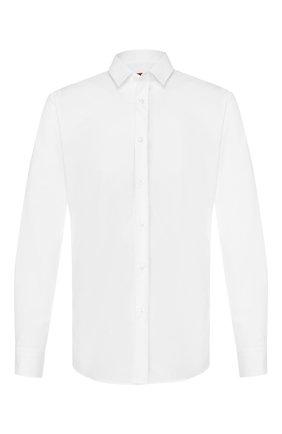Мужская хлопковая сорочка HUGO белого цвета, арт. 50418107 | Фото 1