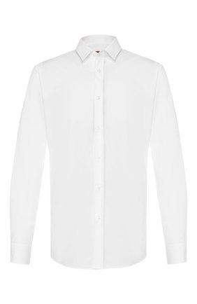 Мужская хлопковая сорочка HUGO белого цвета, арт. 50418151 | Фото 1