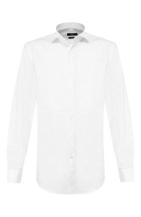 Мужская хлопковая сорочка BOSS белого цвета, арт. 50327676 | Фото 1