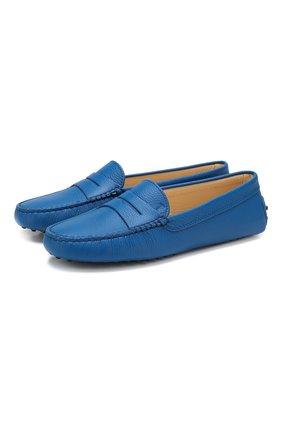 Женские кожаные мокасины gommini TOD'S синего цвета, арт. XXW00G000105J1 | Фото 1