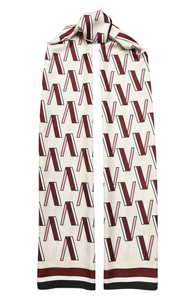 Женская шелковая шаль valentino garavani VALENTINO кремвого цвета, арт. TW2ED007/QQE   Фото 1