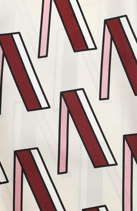 Женская шелковая шаль valentino garavani VALENTINO кремвого цвета, арт. TW2ED007/QQE   Фото 2