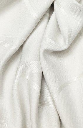 Женский платок valentino garavani из смеси шелка и шерсти VALENTINO серебряного цвета, арт. TW2EB104/DNE | Фото 2