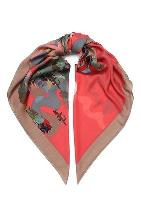 Женский платок sonora из смеси кашемира и шелка LORO PIANA зеленого цвета, арт. FAI9833 | Фото 1