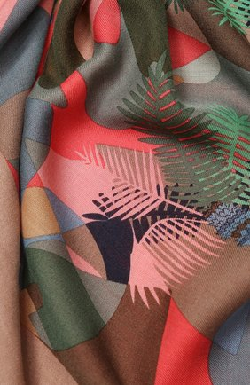 Женский платок sonora из смеси кашемира и шелка LORO PIANA зеленого цвета, арт. FAI9833 | Фото 2