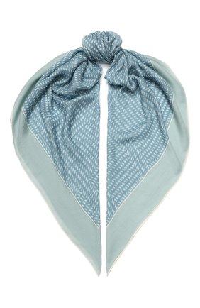 Женский платок rhythmic из смеси кашемира и шелка LORO PIANA голубого цвета, арт. FAI9817 | Фото 1