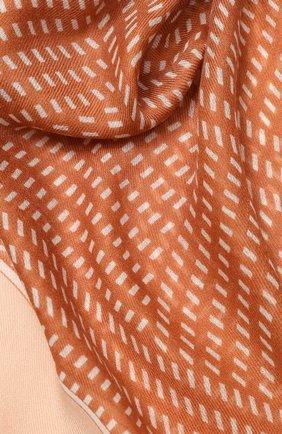 Женский платок rhythmic из смеси кашемира и шелка LORO PIANA бежевого цвета, арт. FAI9817 | Фото 2