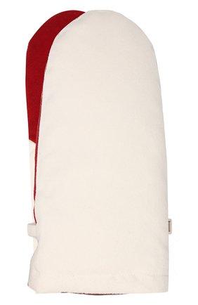 Женские пуховые варежки из кашемира LORO PIANA красного цвета, арт. FAI8761 | Фото 1